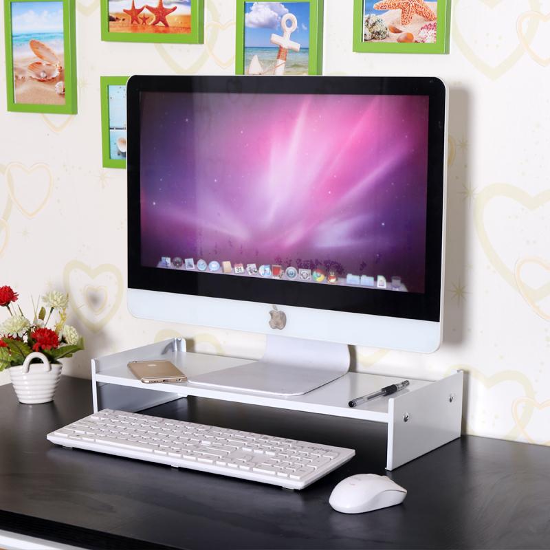 电脑显示器增高架桌面收纳支架办公桌台式显示屏底座托架抬高架子