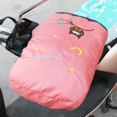 冬季电动车手套挡风被配套用男女棉手把套电瓶摩托车手套防水保暖