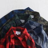 格子衬衣男外套欧美简约青年潮流外穿衬衫 秋季新款 宽松纯棉长袖图片