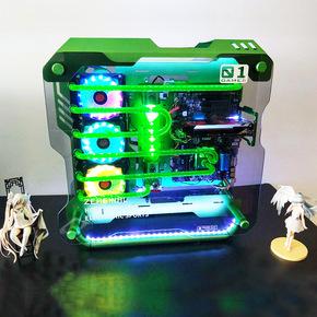 磁动力炽果01机箱 分体式水冷套装整机 显卡水冷CPU定制 硬管水冷