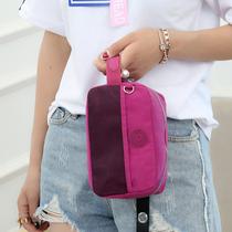 旅行化妆包化妆品收纳包袋女韩版小号帆布手拿包尼龙防水便携包包
