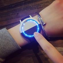 韩国ulzzang潮流创意时尚LED简约智能触摸屏手表电子表男女情侣表