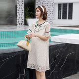 Pregnant women dress fairy super fairy lace maternity dress summer tide mother large size pregnant women summer dress 200 kg doll skirt