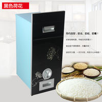 Sakura kitchen cabinets embedded rice box rice cabinet stainless steel liner insect-proof moisture automatic meter barrel