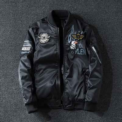 外套男美国空军ma-1飞行员夹克冬季帅气加棉加厚大码双面穿潮棉服