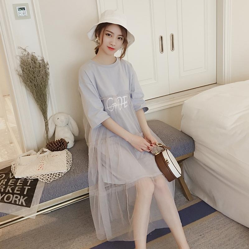 白色连衣裙长裙仙夏