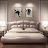 玛度皮床真皮床主卧现代简约大气1.8米双人床欧式婚床公主轻奢床
