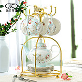 British high-end home tea afternoon tea set ceramic European small luxury bone china elegant coffee cup teapot set