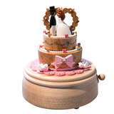 jeancard Taiwan wedding cake music box music box wooden rotating music box the wedding knot in Taiwan