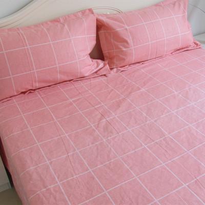喜羊羊家纺 全棉老粗布床单单件1.5m帆布凉席1.8米纯棉加厚睡单