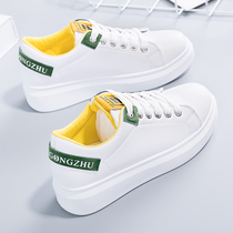 Spring small white shoes female 2019 new wild popular white shoes Korean students shoes spring thick bottom female shoes tide