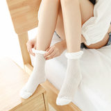 Maternal socks Korean Songkou cotton mesh sweat-absorbent breathable feet month socks summer thin section pregnant women postpartum