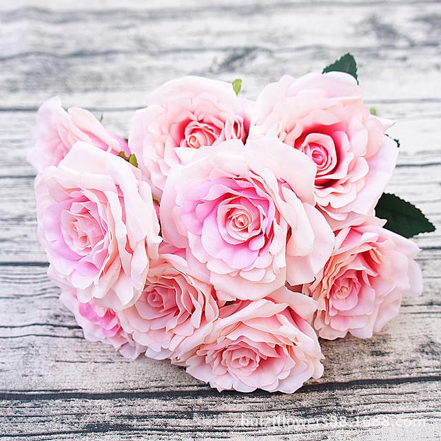 婚庆花12头千层婚礼玫瑰 家居婚庆背景花仿真花