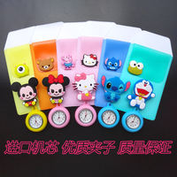 Cute nurse table hanging table can stretch medical chest watch pocket watch plus cartoon pen bag thickening pen set combination