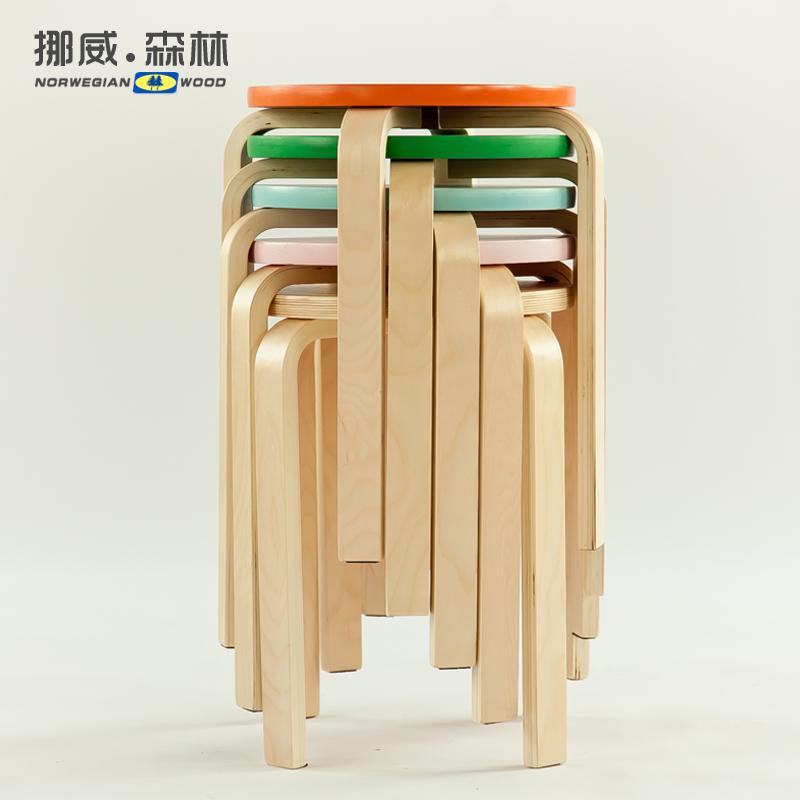 木家具 圆凳