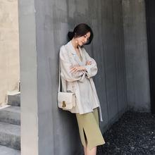 网红西服上衣宽松 设计感小众初秋季2019新款 小西装 外套女士夏薄款图片