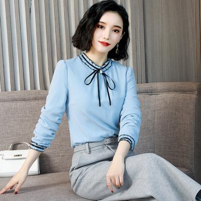 吧拉海贝2019春专柜正品京东购物商城官网品牌女装抖音同款雪纺衫