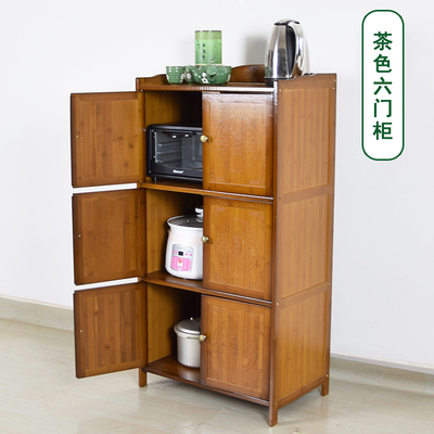 茶葉茶杯架廚房微波爐架餐邊柜實木烤箱架客廳多功能置物架收納柜是什么檔次