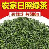 Rizhao green tea 2019 new tea Spring tea no agricultural damage premium fried green alpine tea bulk 500g strong flavor