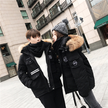 UU Big Devil's Multi-pocket Real Fur-collar Men and Women's Couple's Hats, Down Garments, Jackets and Fashion 55 Open the Same Style