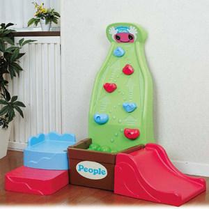礼物 日本people碧波幼儿园玩具游乐攀岩滑梯攀爬小山儿童攀岩墙