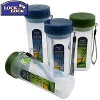 Locks and buckles cups PP plastic cups with filter seal leak-proof cups with rope portable creative