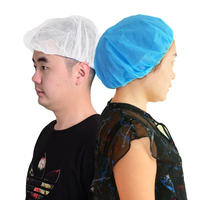 Headgear cap food hat workshop work cap non-woven chef hat dust thickening men and women kitchen disposable hat