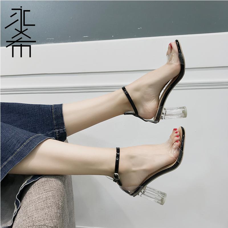 女水晶凉鞋