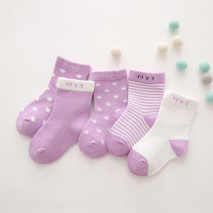 2岁小女孩袜子秋冬纯棉1到3岁宝宝4-6男女童中筒袜7-9儿童厚袜子
