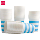 Deli Disposable Paper Cup Thickening Business Environmental Protection High Temperature Resistant Paper Cup Water Cup 250ml Office Commercial Household 50 Packing Posts