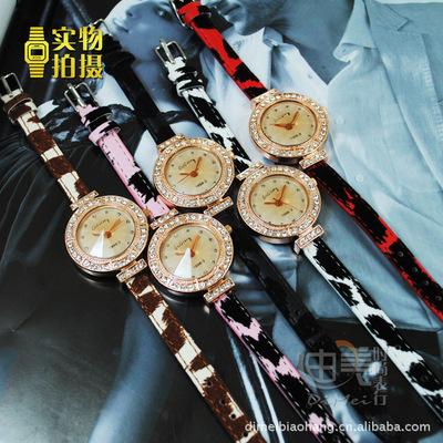 手表 水钻豹