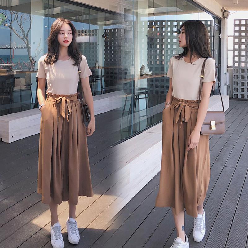 韩版套装裤裙
