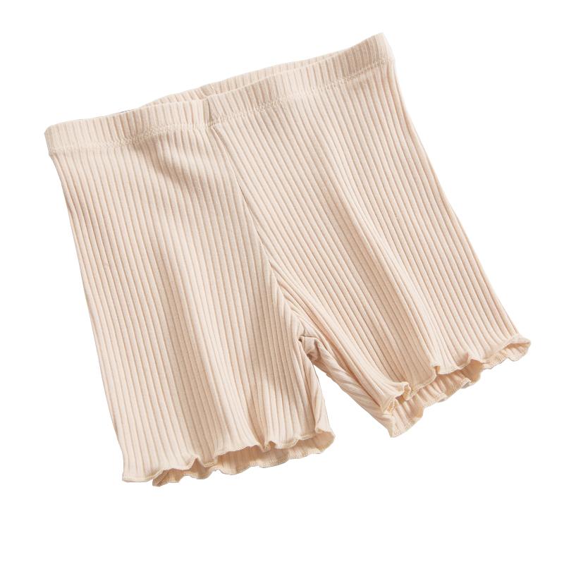 女童安全裤防走光女夏薄款螺纹棉儿童内裤学生中大童三分保险短裤