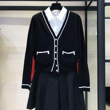 2019年龄季新款 黑色小香风短款 外搭针织开衫 品牌女装 专柜yabo88下载亚博体育「老品牌信誉有保障」 外套