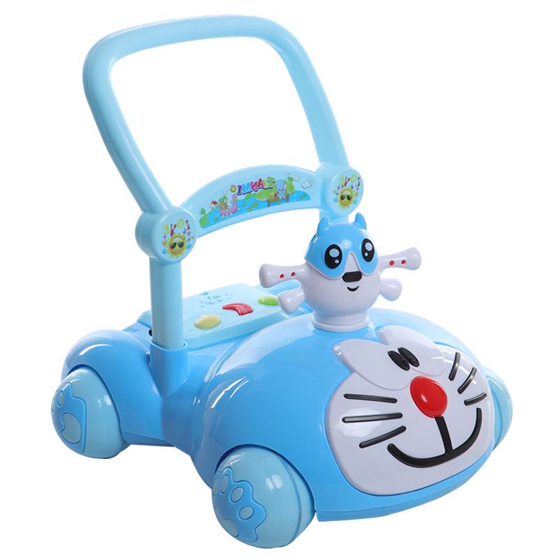 宝宝学步车手推车婴儿童音乐玩具6- 18个月可调速助步车1岁防侧翻