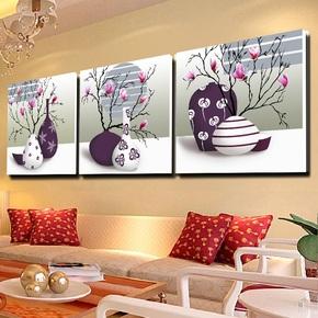 特价客厅装饰画 沙发背景墙挂画餐厅卧室无框画走廊墙壁画三联画
