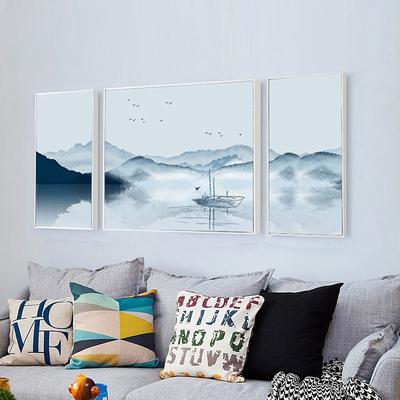中式国画水墨山水墙纸壁画客厅电视背景墙沙发影视墙墙布梅花今日特惠