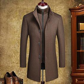 冬季新款中年男士加厚羊毛呢大衣可脱卸内胆呢子风衣爸爸装外套男