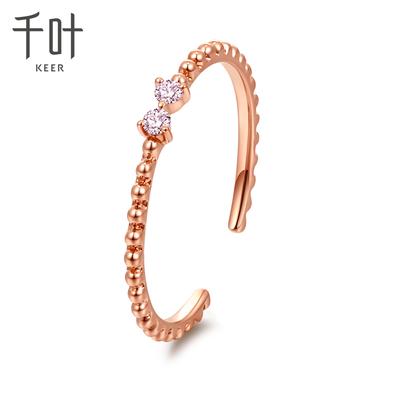 千叶珠宝dada钻石系列鸢尾18K金钻石戒指钻戒手饰K金戒指