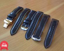 新喜马臀皮表带臻皮手工定制适用于百年灵万国飞行员欧米茄配件等