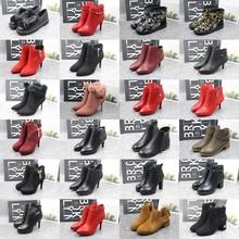 卓诗尼反季促销冬季女鞋马丁靴加绒雪地靴长筒靴保暖冬靴新娘靴