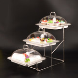 Creative buffet table food display rack three-tier fruit plate buffet tableware buffet buffet package parcels