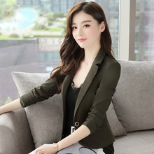 Women's short jacket small suit new style spring clothes 2019 Korean version fashion small name Yuanyuan small fragrant suit