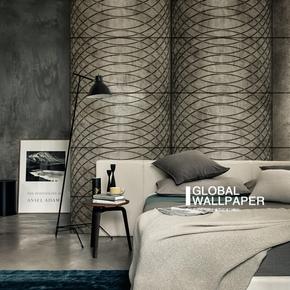 意大利原装进口订制壁画 Circling 线条圆圈工业风创意背景墙壁纸