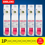 Delixikon Open Miniature Circuit Breaker Type C 1P Single Pole 16A20A25A3240A63A Household Air Switch