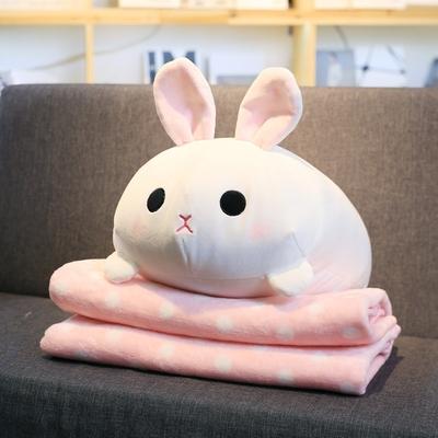 公仔抱枕被子两用汽车办公室抱枕靠垫被子毯子午睡枕空调毯二合一