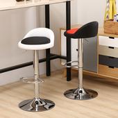 吧台椅升降旋转酒吧椅北欧式前台收银高脚凳现代简约家用铁脚凳子