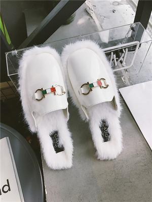 毛毛拖鞋我的id是江南美人林秀香玄秀雅姜美來同款一字社會涼拖鞋