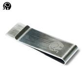 零钱夹子多功能卡夹 小圆象金属美金夹票据收藏 不锈钢整理夹子