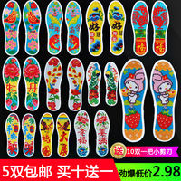 Cross stitch insole pinhole printing semi-finished embroidered wedding festive hand-made breathable deodorant sweat-absorbent cotton insoles